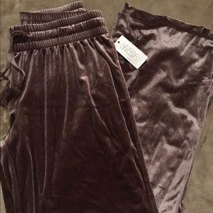 Velvet Wide Leg Lounge Pants